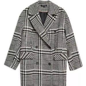 Top shim Kim check coat